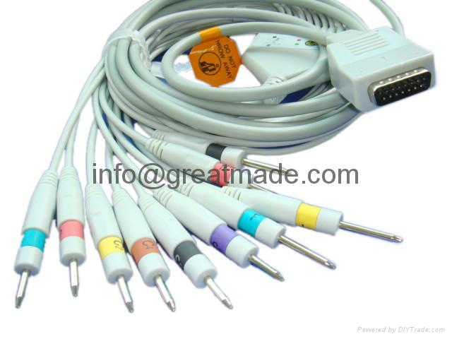 上海光電心電圖機電纜及導聯線 (DIN 3.0 ) 1