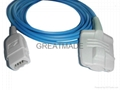 Compatible with GE Datex-Ohmeda Truesat Adult soft tip Spo2 sensor