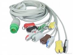 摩托拉 surveyor 心電圖機電纜及導聯線 , 夾式
