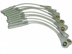 心電圖機線香蕉插轉扣式轉接線