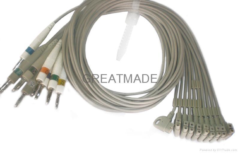 惠普M1713B心电图机导联线 (4.0 香蕉插 )