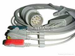 日本光電11pin 監護儀電纜及導聯線
