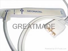 新生儿一次性血氧探頭(乳白色膠帶)