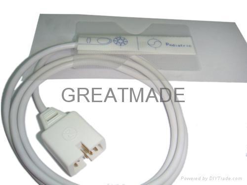 Pediatric disposable spo2 sensor (Transparent  ) 1