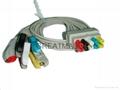 GE Pro1000 五导欧标夹式导联线