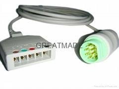 Siemens 5-Lead ECG Trunk Cable  ,Euro 5-lead