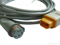 Nihon Kohden- BD IBP transducer  adapter cable