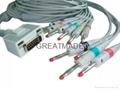 Fukuda  EKG cable with leadwires (4.0 Banana )