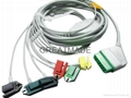 Nihon Kohden one piece cable with 6-lead