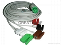 Fukuda integrated cable with 5-lead AHA grabber   leadwires