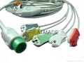 Spacelab one piece cable with 5-lead IEC grabber leadwires