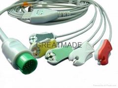 太空直插式(一体)电缆及五导欧标夹式导联线
