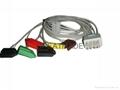 兼容于日本光电BR-906P 夹式三导联线