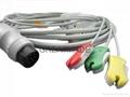 日本光電一體式心電電纜及歐標夾式導聯線,8PIN  1