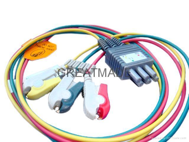 Colin BP88 ECG 3-Lead grabber leadwires  1