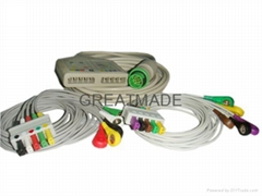 Fukuda Multi-link ECG trunk cable with its leadwires