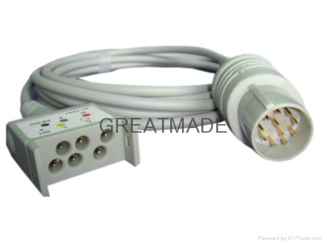 日本光电JC-763V 心电电缆