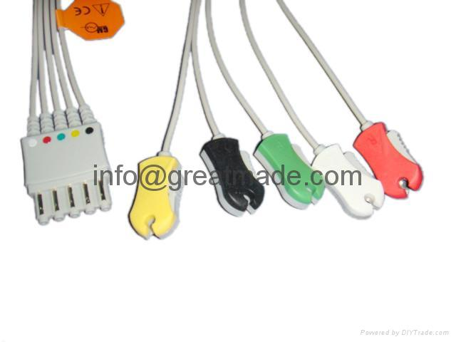 HP M1971A 5-lead  IEC  grabber leadwire    1