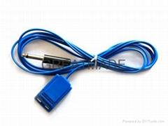 单极电极连线