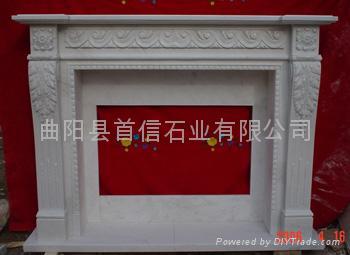 大理石壁炉 4