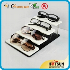 Elegant White Acrylic Sunglass display stand