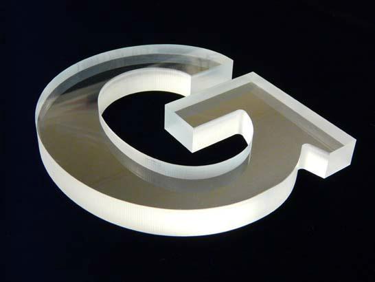 亚克力金镜雕刻字 有机玻璃水晶字