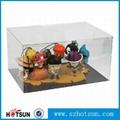 Clear Acrylic cartoon Characters display case