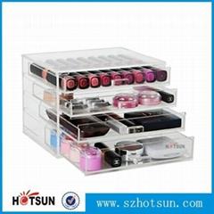 透明亚克力4层抽屉化妆品收纳盒