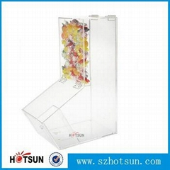 Wholesale Acrylic candy or cereal container, clear acrylic food dispenser