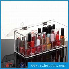 desktop acrylic nail polish holder, perspex nail polish display stand