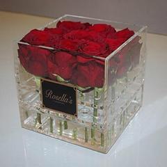 透明亚克力定做鲜花盒子 玫瑰盒子 带盖