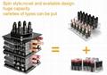 工厂定做 亚克力桌面化妆品收纳盒 360度旋转口红架 唇膏箱彩妆护肤架 4