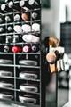 工厂定做 亚克力桌面化妆品收纳盒 360度旋转口红架 唇膏箱彩妆护肤架 6