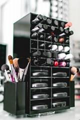廠家定做黑色可旋轉口紅盒 彩妝盒 唇膏架