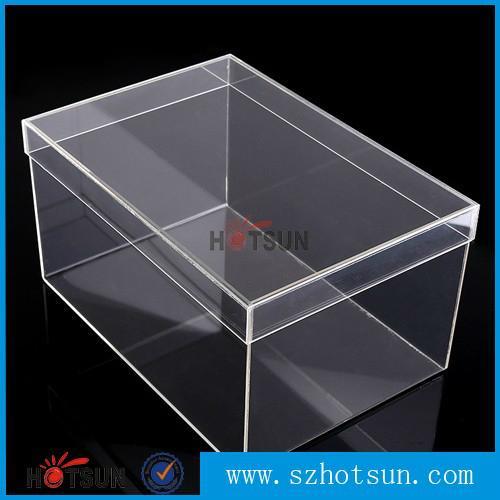 供应厂家亚克力盒子 透明产品展示盒 有机玻璃包装盒 鞋盒 1