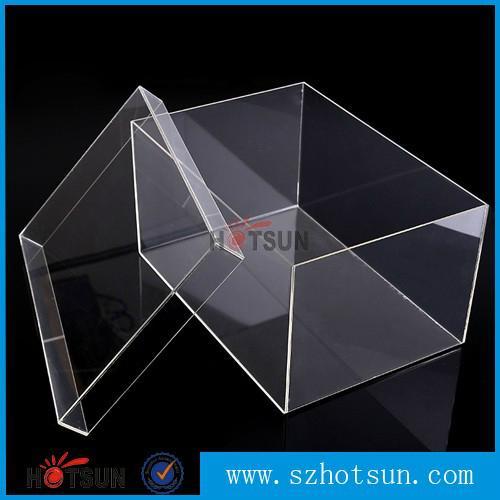 供应厂家亚克力盒子 透明产品展示盒 有机玻璃包装盒 鞋盒 2