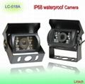 IR Night Vision CCD Waterproof Camera