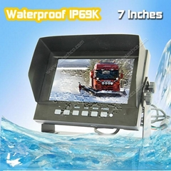 Hight quality IP69K Waterproof LCD monitor for car