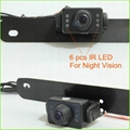 Light vehicles backup camera system