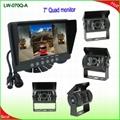 Heavy duty vehcle reverse camera system