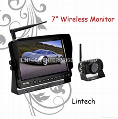 7 inch wireless rear view system with wireless monitor and wireless camera