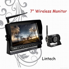 7 inch car wireless rearview system with 2.4G HZ (LS-7006W)