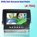 Hot 7 inch Waterproof Quad LCD monitor (LM-7504Q)