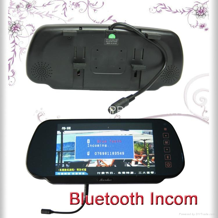 Bluetooth Car Rearview mirror monitor (LM-070M-A) 2