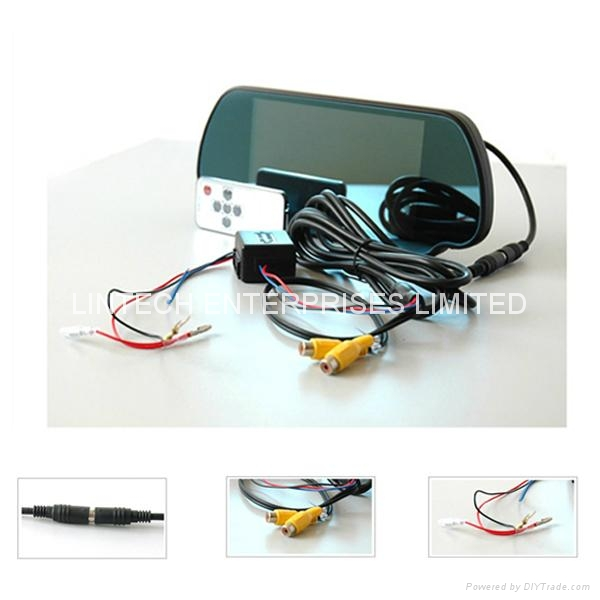 Bluetooth Car Rearview mirror monitor (LM-070M-A) 4