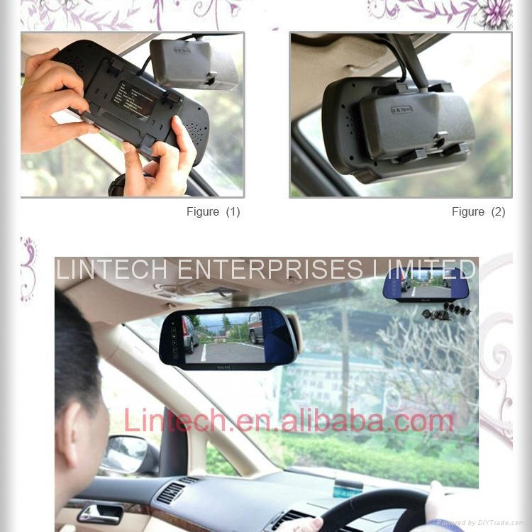 Bluetooth Car Rearview mirror monitor (LM-070M-A) 5