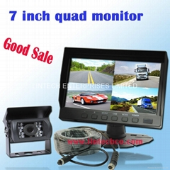 Good Sale 7inch Quad Monitor Rearview System (LW-070Q-A2)
