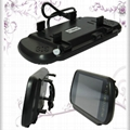 """7"""" rear view lcd color mirror monitor with 2 videos input"""