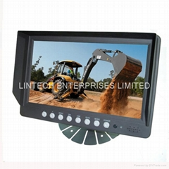 9 inch 4CH Digital LCD Quad Monitor Car Surveillance Security Monitor