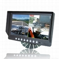 Popular 9 inches Digital LCD quad monitor (LM-090Q-B)